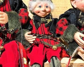 "Floridus 16"" ""JANGLE"" Elf (Red & Black) FLO-XN703200"