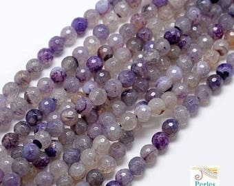 agate beads 20 Amethyst 8mm faceted (pg89)