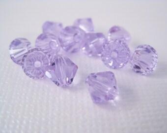 6mm Violet Swarovski Crystal Bicone Beads (Package of 12) June Birthstone