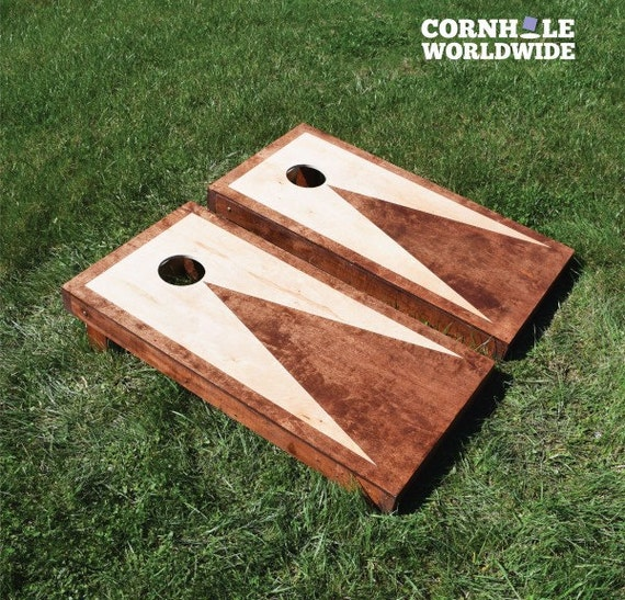 Stained Triangle Cornhole Game