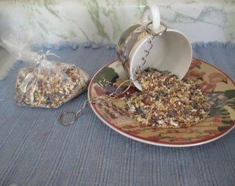 Bird Feeder, Bird Feeder Teacup, Garden Decor, Yard Decor, Bird Feeder Dish, Hanging Bird Feeder