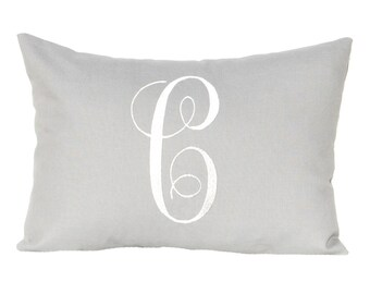 Letter Pillow Cover - Monogram Pillow Cover - Custom Gift - Wedding Pillow - Housewarming Gift - Embroidered Pillow - Throw Pillow cover