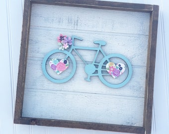 Smart Sign System Bicycle with flower basket