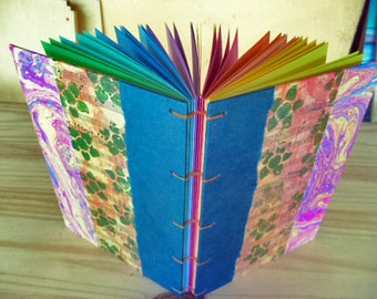 Rainbow book. Journal, sketch book, book of secrets...