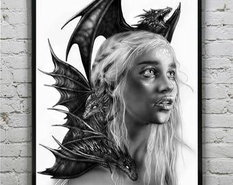 Daenerys Targaryen - Art Prints