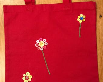 Hand embroidered and decorated bag