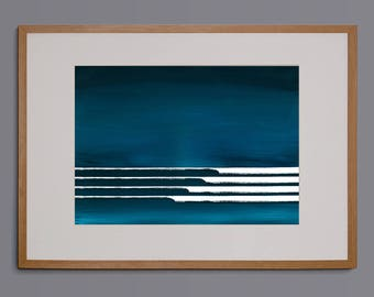 Seascape, abstract surf art, surf painting, acrylic painting, seascape, abstract wall art, giclee print, waves, surf decor, ocean, blue navy