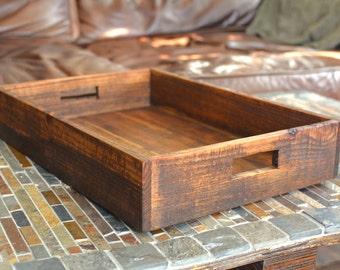 Reclaimed Oak Serving Tray | Breakfast Tray | Farmhouse Tray | Wood Tray