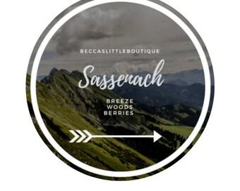 Sassenach - Outlander Inspired 4 oz Candle | Outlander inspired merch, book, read, gift ideas, present, jamie, claire, Scotland, Highlands
