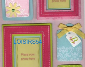 Paper labels stickers/scrapbooking/decorating/card 3D.