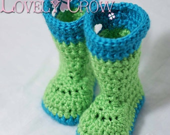 Toddler Booties Crochet Pattern   for TODDLER GOSHALOSH BOOTS digital