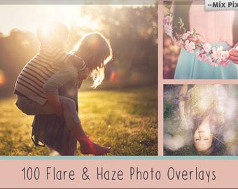 Sunlight flare photoshop overlays, Haze photo Overlay, Sunlight Photoshop, sunbeams, natural sun, photography effects, add sunlight actions