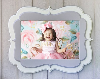 Valentines day sale 11x14 picture frame, double stacked frame,  painted distressed frame, curvy picture frame, (choose shape and color)