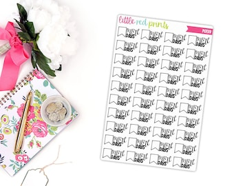 Blank Countdown Planner Stickers for the Erin Condren Life Planner, Countdown Sticker, Countdown Planner Sticker - [P0139]