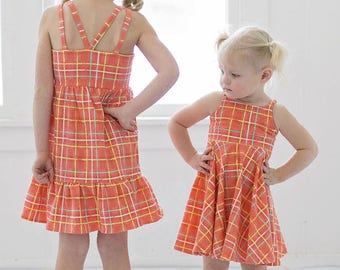 KNIT Bella Bodice Add On – MUST Purchase Woven Version for Skirt. PDF Sewing Pattern for Sizes 2T-12