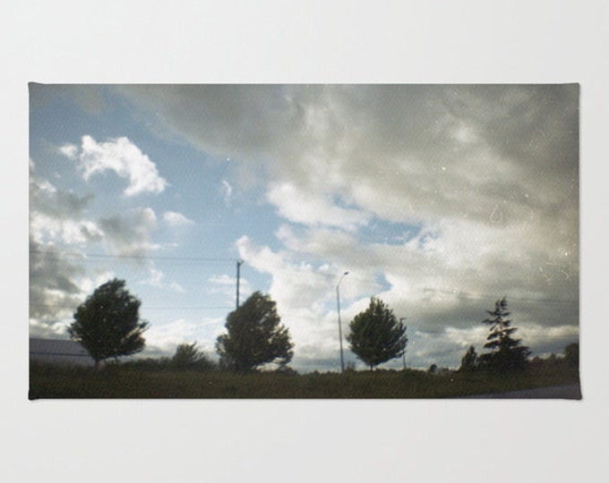 Clouds and Trees - Rug - Floor Mat - Room Rug - Floor Rug - Original Photo - Landscape Photo - Made to Order