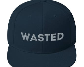 wasted Snapback Hat alternative drinking drunk drinkers youth club night