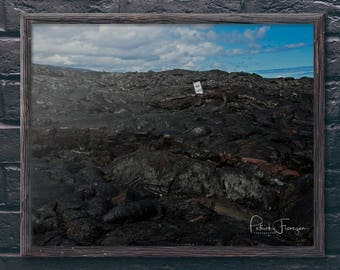 Lava at Volcano National Park: Big Island, Hawaii Photo Print