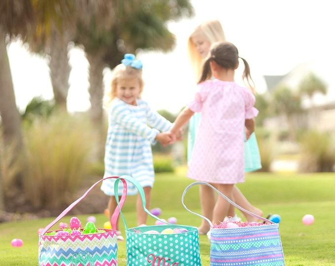 Personalized Easter Basket, Monogrammed Easter Basket, Personalized Easter Bucket, Monogram Easter Bucket