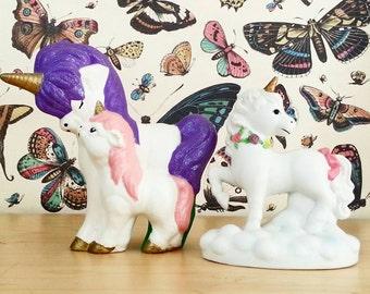 Unicorn- Shabby Chic Decor- Vintage Figurine- Room Decor- Home Decor- Boho Decor- Collectible- Unicorn Lot-  Dorm Decor- Bohemian- Ceramic