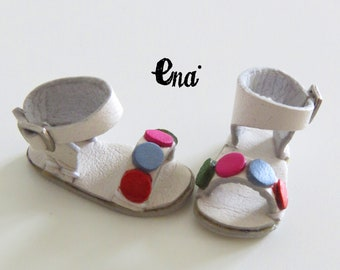 """New! """"COLORS"""" sandals for Middie Blythe and Pure Neemo body. 100% Leather, Total handmade"""