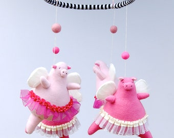 Angelic Piggie Baby Mobile  ---  Made to Order
