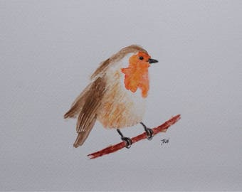 Original Robin Watercolour