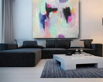 "abstract painting ""Suspended time"" made to order several sizes available"