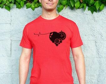 Valentine's Day Gift for Him, Valentine's Shirt Men, Heart Tshirt, Love Tshirt, Boyfriend Tshirt, Husband Gift - Tender Time Bomb Tshirt