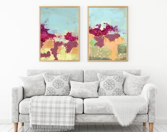 Abstract Art Printable Art Set - DIY Art , Large Modern Posters , Living Room Wall Art , CoWorker Gift Art Print