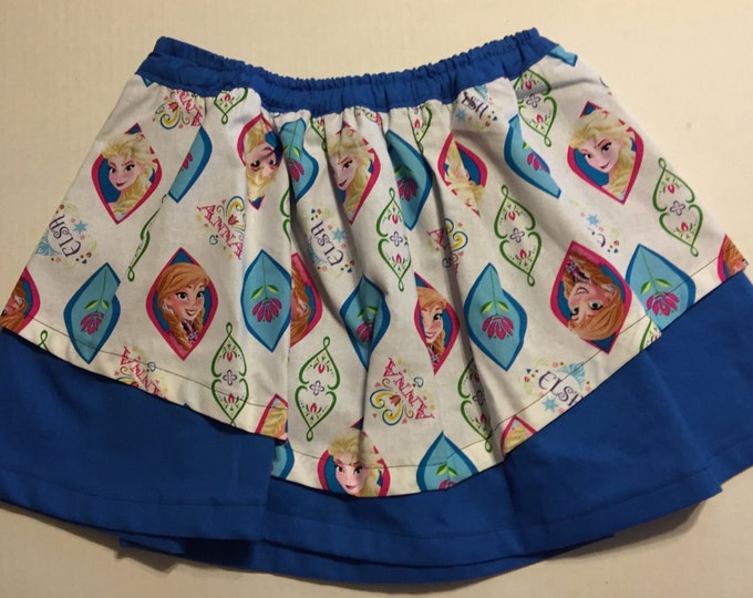 Cotton Girl's Frozen Skirt