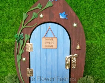 Fairy Door - Pretty blue Woodland