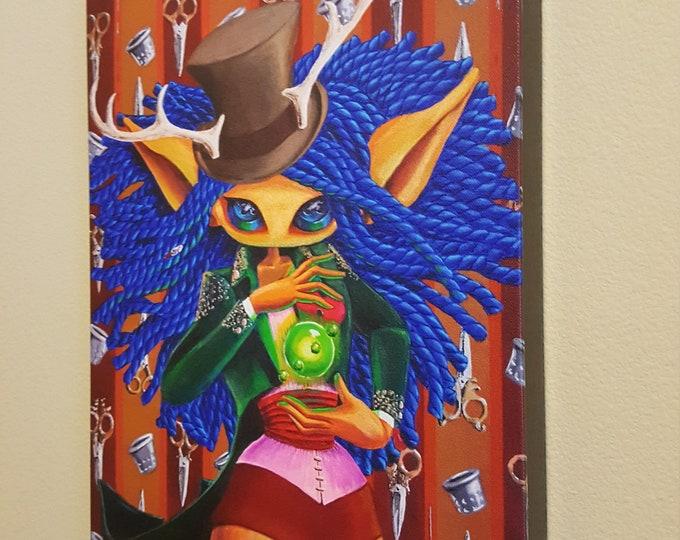 "The Magician - 12x16"" Repro on Canvas - Major Arcana Tarot Series- MuseArt"