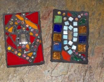 mosaic switch plate