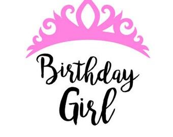 Birthday Girl Iron On Appliques, DIY Toddler Birthday Gift, DIY Shirt, Tshirt Birthday Applique, Fabric Applique Design Kit