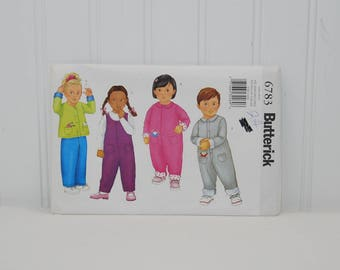 Butterick 6783 Toddler Cardigan and Jumpsuit (c. 2000) Toddler Sizes 1-4) Preschool Clothes, Adorable Toddler Outfits, Play Clothes, Gift