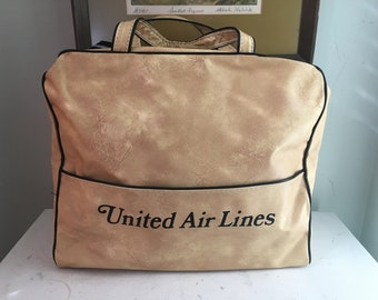 Vintage United Vinyl Airlines Carry-On Bag Luggage