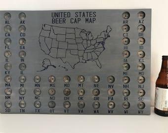 United States Beer Cap Map