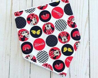 Minnie Mouse Bibdana ~ Bandana Bib ~ Baby Bibs ~ Drool Bibs ~ Disney Baby