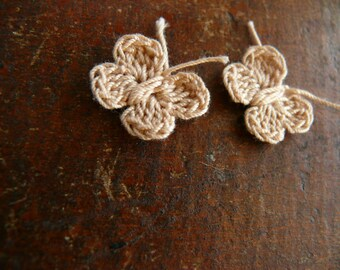 15 tiny crochet butterfly, mini butterfly embellishments applique crochet motif,small wedding favor, scrapbooking, wedding decorations,cards