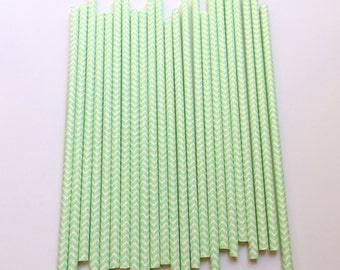 MINT CHEVRON Straws / Mint Straws / Chevron Straws / Party Straws / Paper Straws / Party Decor / Event Decor / Wedding Decor / Straws