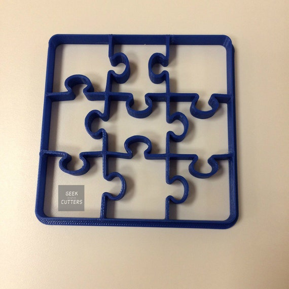 Puzzle Cookie Cutter Desk - 1 cut - 9 forms - Bread/Food Cutter