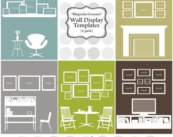 """Wall Display Templates  - """"Magnolia Crescent"""""""