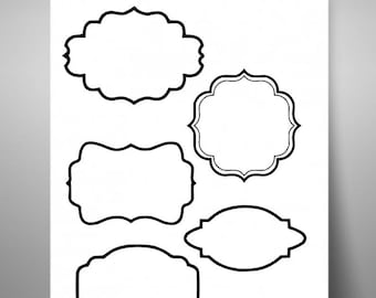Monogram svg, Monogram Frame svg, Monogram Border svg, frame svg, border svg, labels svg