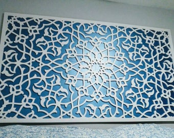 White Moroccan  panel