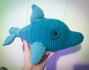 Crocheted Ombre Dolphin