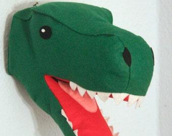 T-Rex Felt Dinosaur Head, Trohy Head
