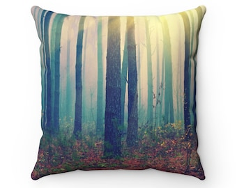 Deep in the Forest Throw Pillow | Nature Throw Pillow Case | Boho Home Decor | Woods | Accent Pillow | Decorative Pillow | Trees | Moody