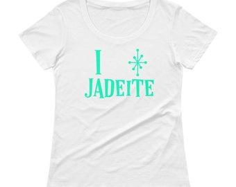 I love Jadeite Ladies' Scoopneck T-Shirt