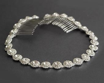 Hochzeit Kopfschmuck, Silberhochzeit Stirnband, Multi-Color-Strass-Stirnband, Haar Diadem, Haarschmuck, Brautjungfer, Haar-Accessoire-HA019